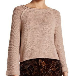 Free People Open Back Crop Sweater Small
